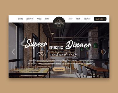 Web design for Restaurant ( landing page )