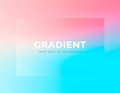 Gradient: from gray to color scale- public art
