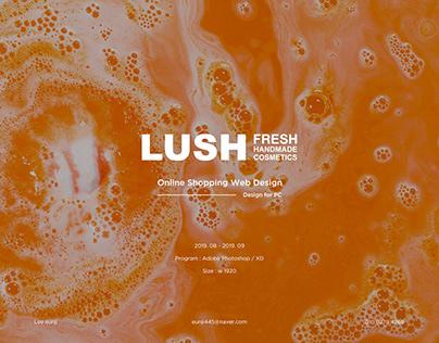 LUSH - UIUX WEB DESIGN