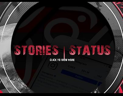 Stories | Status - Instagram, Facebook and Whatsapp
