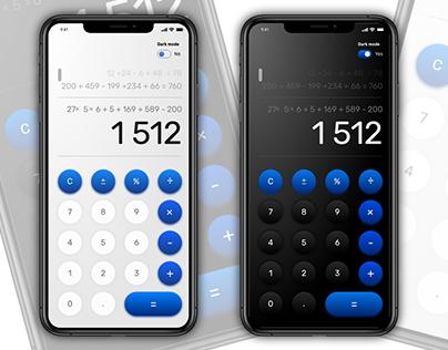 Calculator - UX Case study + Design System (Adobe xD)