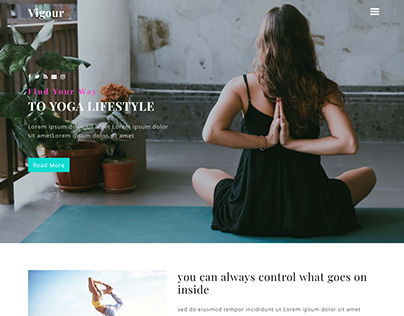 One Page Yoga& Fitness Website Development