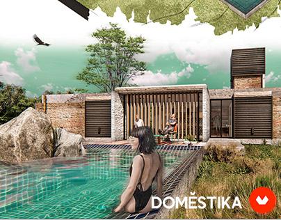 Ilustración digital de proyectos arquitectónicos