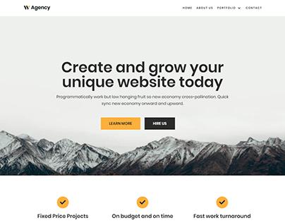 Agency WordPress website | landing page