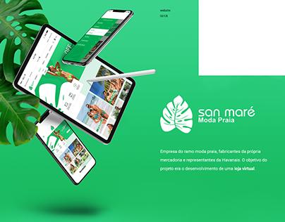 E-commerce website - Sanmaré