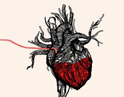 Wired heart for Centro Nazionale del Sangue