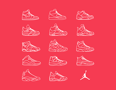 Jordan Sneakers Icon Set