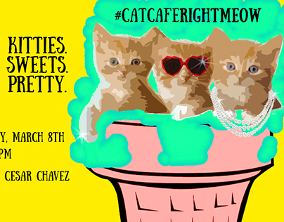 Blue Cat Cafe Kickstarter Event Graphic