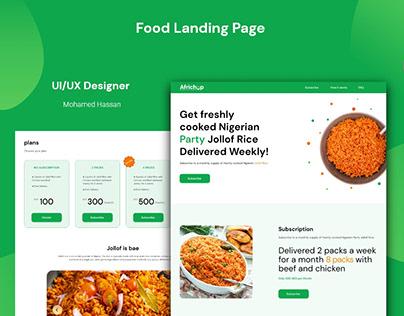 Food Website Landing Page