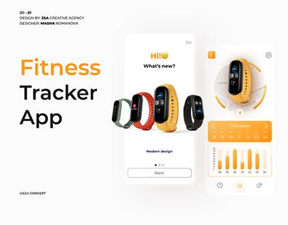 Fitness tracker mobile app UX/UI