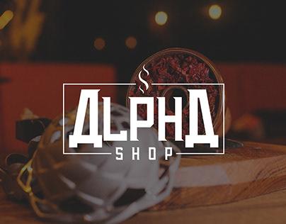 Tobacco Logo Design Alpha Shop