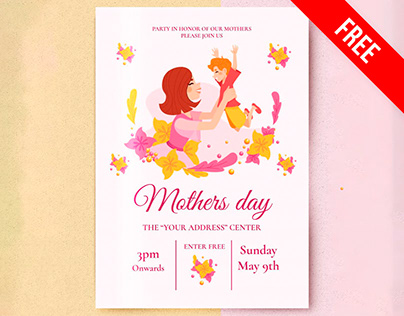 Mothers Day Invitation - free Google Docs Template