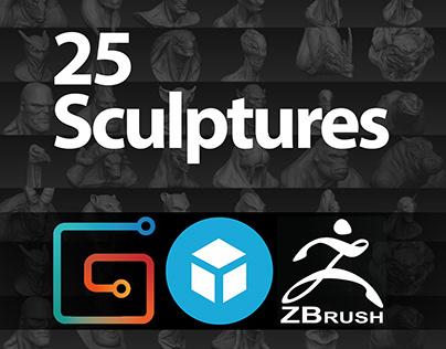 Zbrush Sculptures Practice