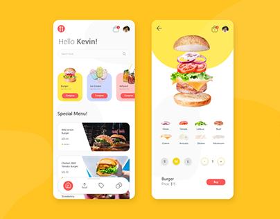 Burger (or any food) Builder App