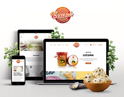 Ice Cream WooCommerce Website - Ceasar's Ice Cream