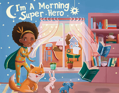 """Illustrations for the book """"I am a morning superhero"""""""