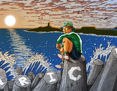 Postal de Arica - Chile ilustrado