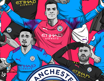 Adobe Draw - Manchester City Team Drawings