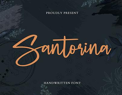 Santorina Stylish Script
