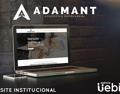 Site institucional Adamant Assessoria