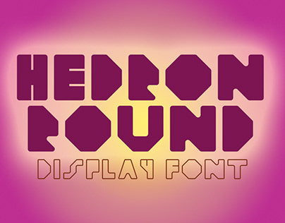 Hedron Round Display Font
