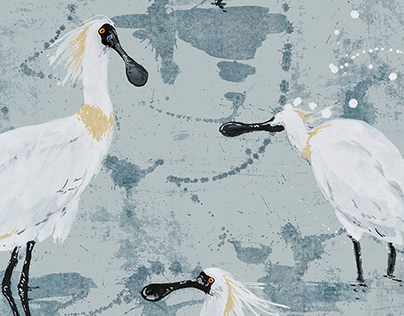 Spoonbill Fabric