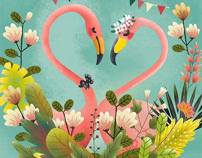 Illustrations for wedding invitations