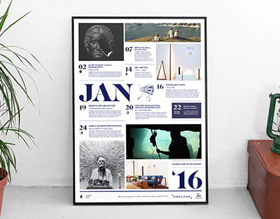 Sub Rosa January Calendar