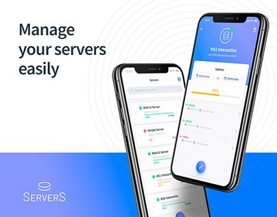 Servers App - UX and UI Design Case