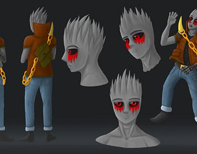 2D character concept art illustration