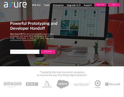 Diseño website axure