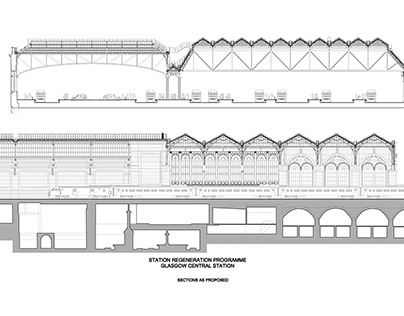 1994-1997 : Glasgow Central Station Drawing