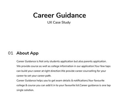 UX Case Study Career Guidance