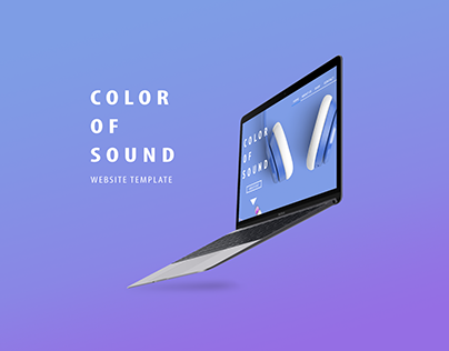 Color of sound website template
