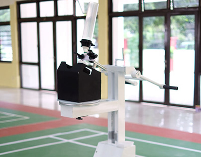 Cock Launcher for Badminton Drilling Training