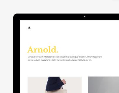 Arnold. - Minimal Portfolio WordPress Theme