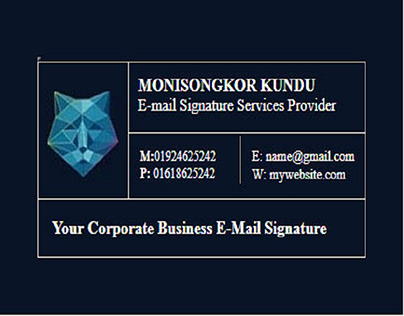Clickable HTML E-mail Signature