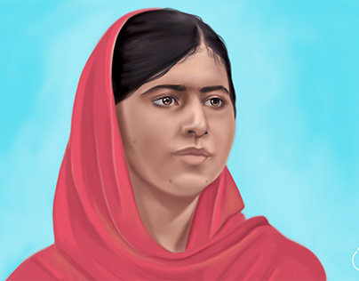 Malala Yousafzai - fan art painted in Adobe Photoshop