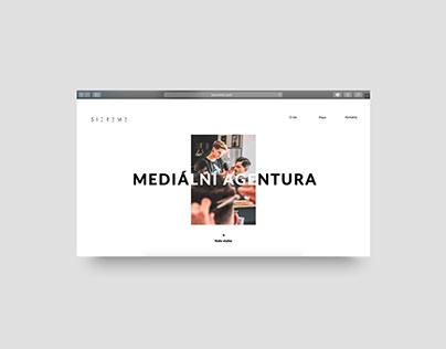 Website for media agency Sicreme
