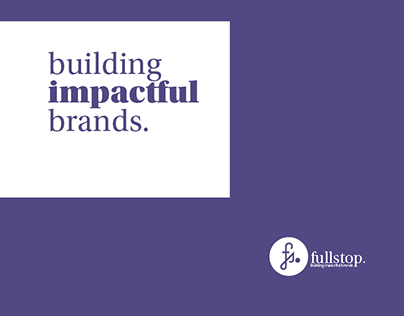 Fullstop brand and Design Audit