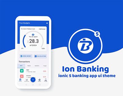 Ion Banking - ionic 5 Banking app UI theme