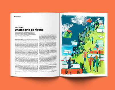 Literary article illustration