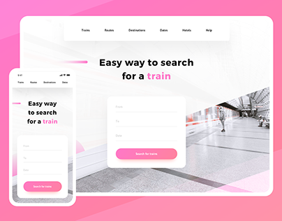 Landing Page Exploration: Train Search