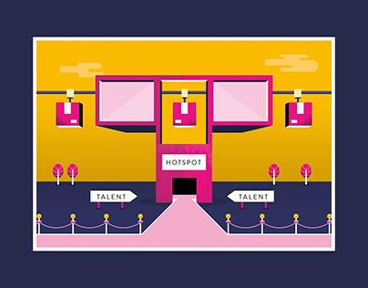 Editorial illustration Tilburg City of Talent