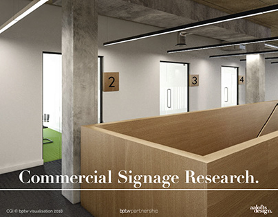 Signage Research   AALofts Design for bptw partnership