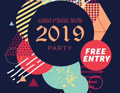 New Year Eve Party Poster