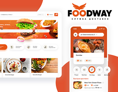 Web Site and Mobile App for dishes delivery