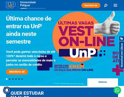 Site da instituição UnP Online