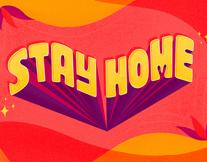 Stay Home — Lettering