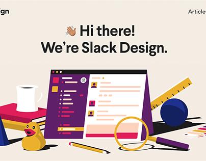 Slack Design illustrations